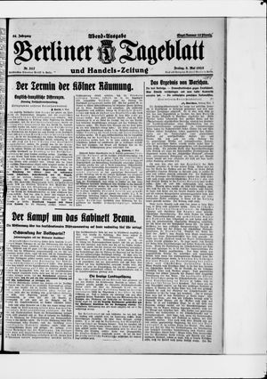 Berliner Tageblatt und Handels-Zeitung vom 08.05.1925