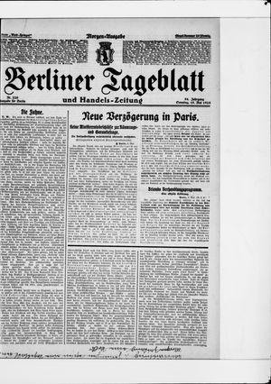 Berliner Tageblatt und Handels-Zeitung vom 10.05.1925