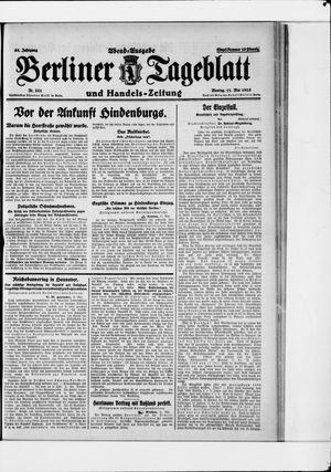 Berliner Tageblatt und Handels-Zeitung vom 11.05.1925