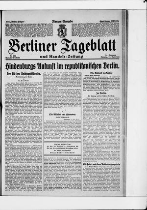 Berliner Tageblatt und Handels-Zeitung vom 12.05.1925