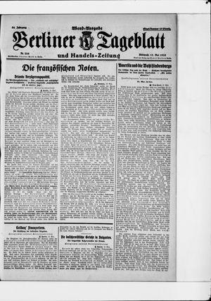 Berliner Tageblatt und Handels-Zeitung vom 13.05.1925