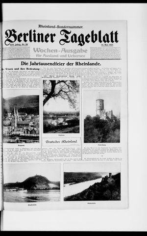 Berliner Tageblatt und Handels-Zeitung vom 14.05.1925