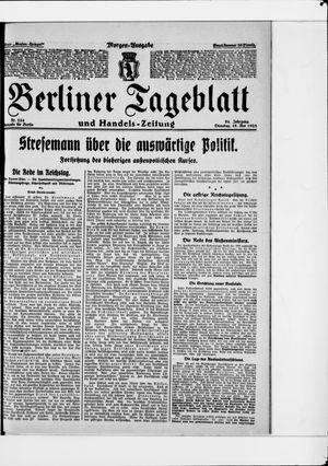Berliner Tageblatt und Handels-Zeitung vom 19.05.1925