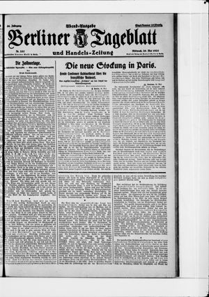 Berliner Tageblatt und Handels-Zeitung on May 20, 1925