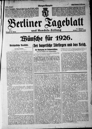 Berliner Tageblatt und Handels-Zeitung vom 01.01.1926