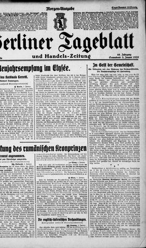 Berliner Tageblatt und Handels-Zeitung vom 02.01.1926