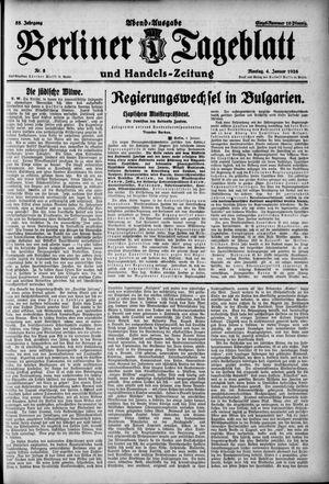 Berliner Tageblatt und Handels-Zeitung vom 04.01.1926