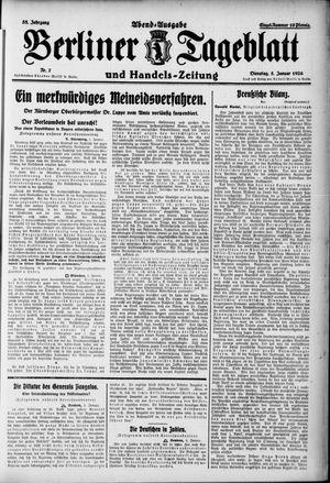 Berliner Tageblatt und Handels-Zeitung vom 05.01.1926