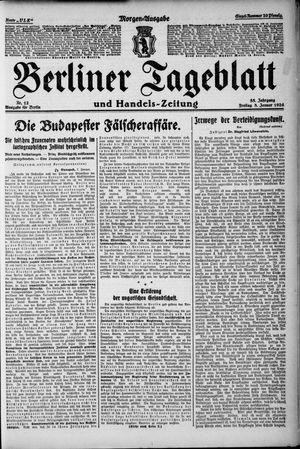 Berliner Tageblatt und Handels-Zeitung vom 08.01.1926