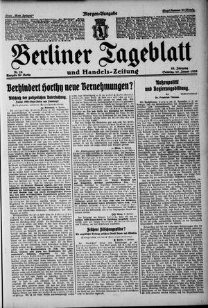Berliner Tageblatt und Handels-Zeitung vom 10.01.1926