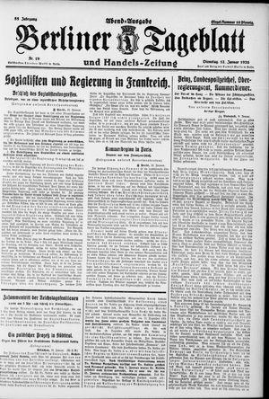 Berliner Tageblatt und Handels-Zeitung vom 12.01.1926
