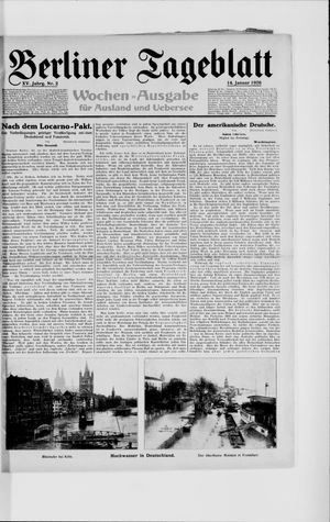 Berliner Tageblatt und Handels-Zeitung vom 14.01.1926