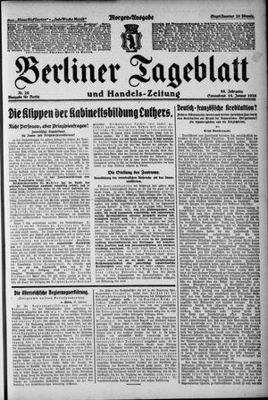 Berliner Tageblatt und Handels-Zeitung on Jan 16, 1926