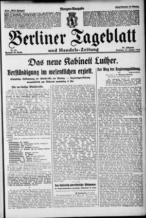 Berliner Tageblatt und Handels-Zeitung vom 17.01.1926
