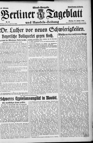 Berliner Tageblatt und Handels-Zeitung vom 18.01.1926