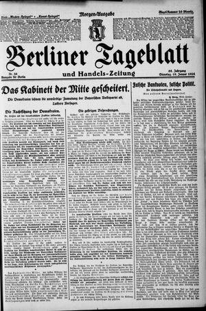 Berliner Tageblatt und Handels-Zeitung vom 19.01.1926