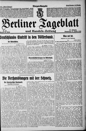 Berliner Tageblatt und Handels-Zeitung vom 21.01.1926