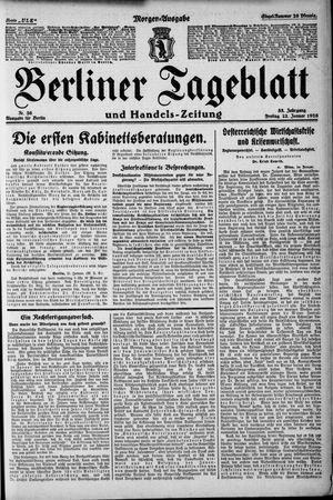 Berliner Tageblatt und Handels-Zeitung vom 22.01.1926