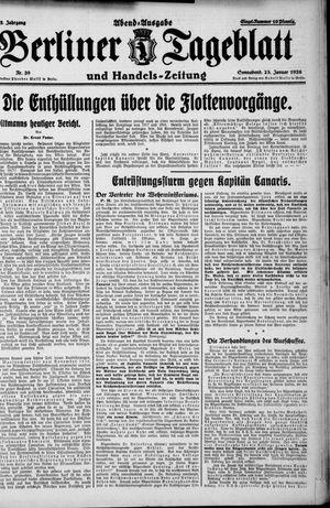 Berliner Tageblatt und Handels-Zeitung vom 23.01.1926