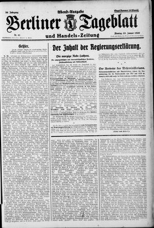 Berliner Tageblatt und Handels-Zeitung vom 25.01.1926