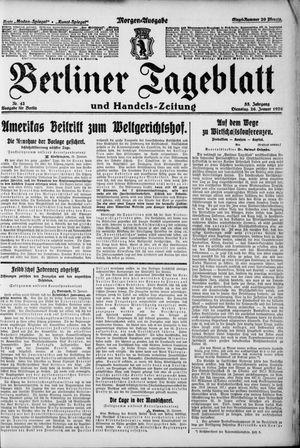 Berliner Tageblatt und Handels-Zeitung vom 26.01.1926