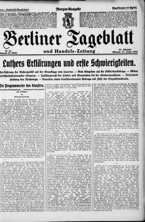 Berliner Tageblatt und Handels-Zeitung vom 27.01.1926