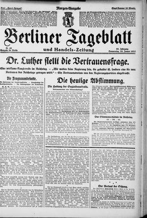 Berliner Tageblatt und Handels-Zeitung vom 28.01.1926