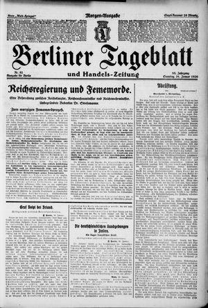 Berliner Tageblatt und Handels-Zeitung on Jan 31, 1926