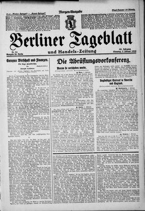 Berliner Tageblatt und Handels-Zeitung vom 02.02.1926