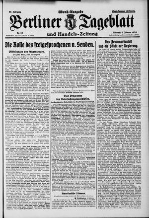 Berliner Tageblatt und Handels-Zeitung vom 03.02.1926