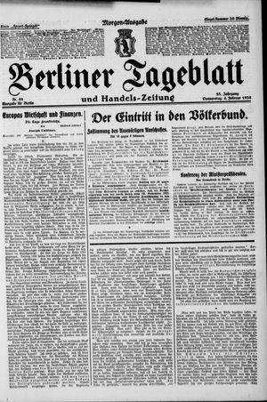 Berliner Tageblatt und Handels-Zeitung vom 04.02.1926