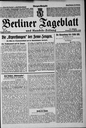 Berliner Tageblatt und Handels-Zeitung on Feb 6, 1926