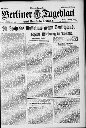 Berliner Tageblatt und Handels-Zeitung vom 08.02.1926