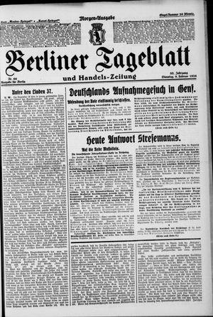 Berliner Tageblatt und Handels-Zeitung on Feb 9, 1926