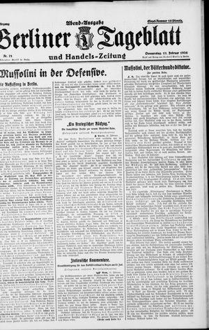 Berliner Tageblatt und Handels-Zeitung on Feb 11, 1926