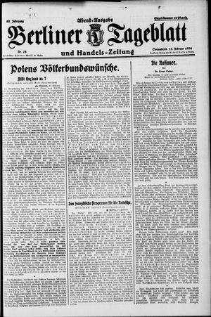 Berliner Tageblatt und Handels-Zeitung vom 13.02.1926