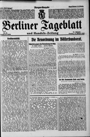 Berliner Tageblatt und Handels-Zeitung vom 14.02.1926