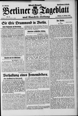 Berliner Tageblatt und Handels-Zeitung vom 15.02.1926