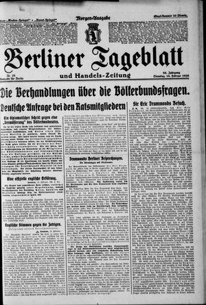 Berliner Tageblatt und Handels-Zeitung vom 16.02.1926
