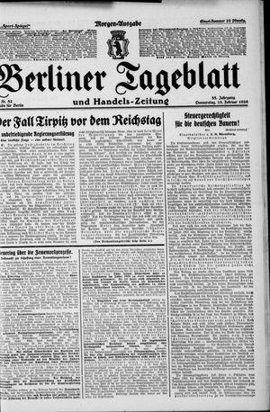 Berliner Tageblatt und Handels-Zeitung vom 18.02.1926