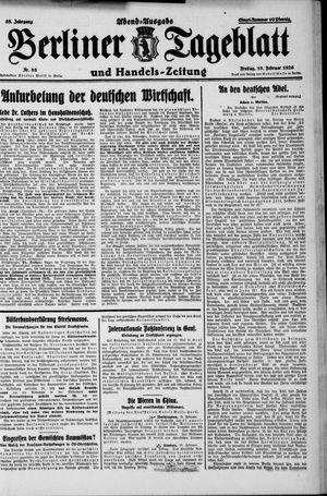 Berliner Tageblatt und Handels-Zeitung vom 19.02.1926