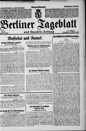 Berliner Tageblatt und Handels-Zeitung vom 20.02.1926