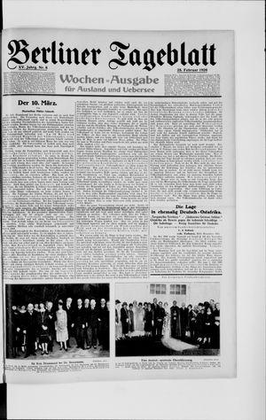 Berliner Tageblatt und Handels-Zeitung vom 25.02.1926