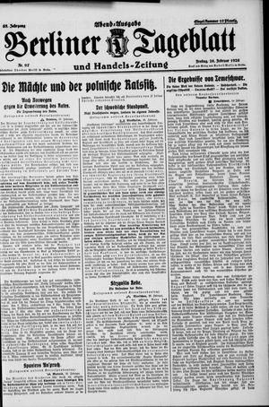 Berliner Tageblatt und Handels-Zeitung vom 26.02.1926