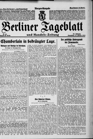 Berliner Tageblatt und Handels-Zeitung on Feb 27, 1926