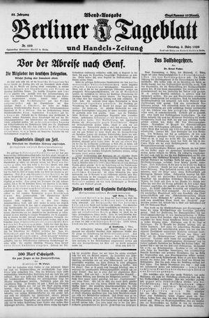 Berliner Tageblatt und Handels-Zeitung vom 02.03.1926
