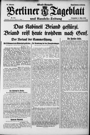 Berliner Tageblatt und Handels-Zeitung vom 06.03.1926