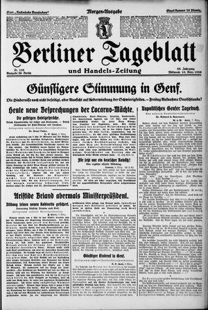 Berliner Tageblatt und Handels-Zeitung vom 10.03.1926