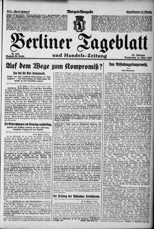 Berliner Tageblatt und Handels-Zeitung on Mar 11, 1926
