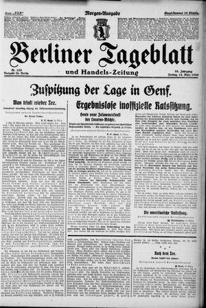 Berliner Tageblatt und Handels-Zeitung vom 12.03.1926